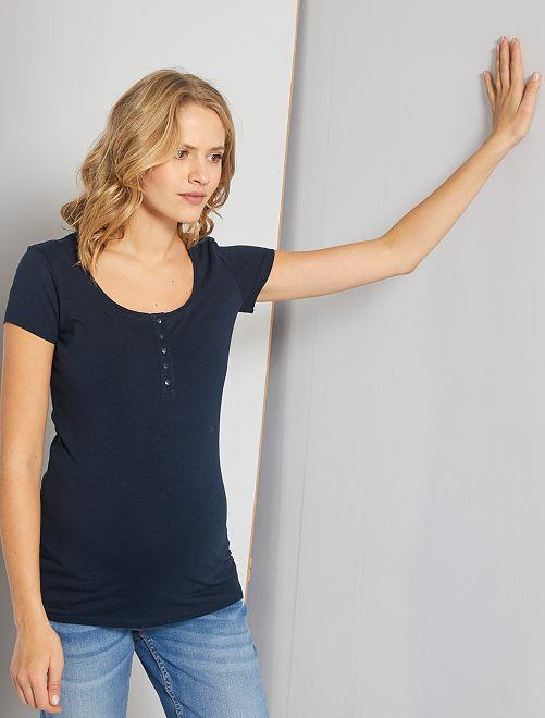 T-shirt d'allaitement 'éco-conception'                                         bleu marine