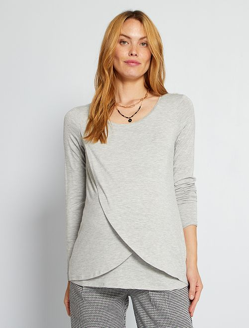 T-shirt d'allaitement                                         gris