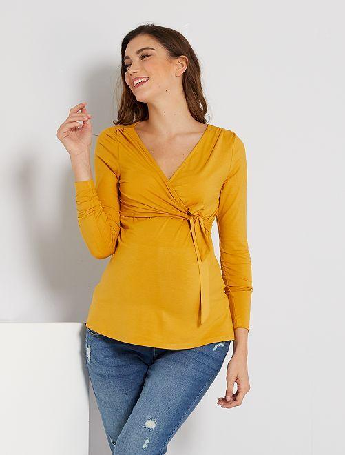 T-shirt d'allaitement                     jaune