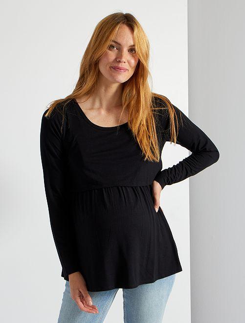 T-shirt d'allaitement                                         noir