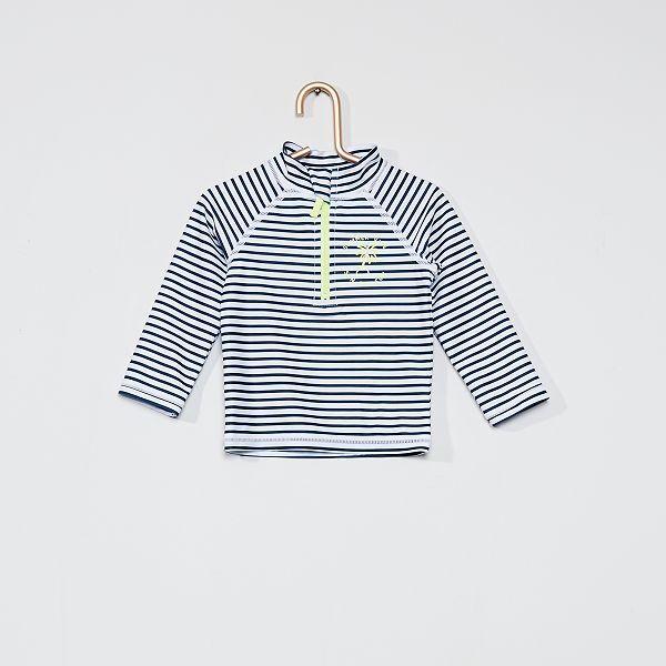 T-shirt de bain anti-uv Bébé fille - blanc