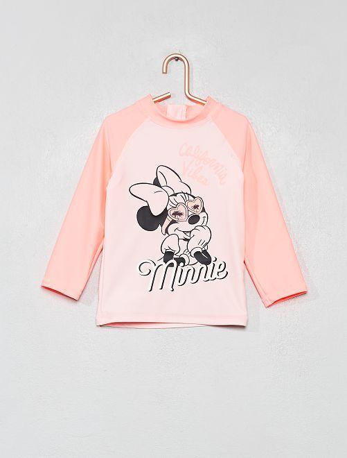 T-shirt de bain anti-UV 'Minnie'                                         rose Bébé fille