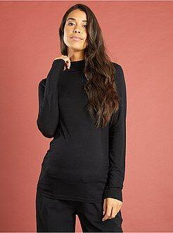 T-shirt, débardeur taille 34/36 - T-shirt de grossesse col montant maille côtelée