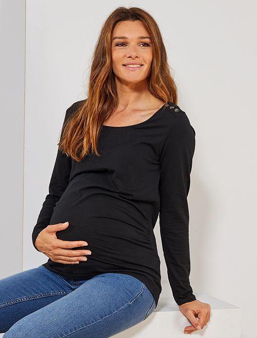 T-shirt de grossesse 'éco-conception'                                                                 noir Vêtement de grossesse