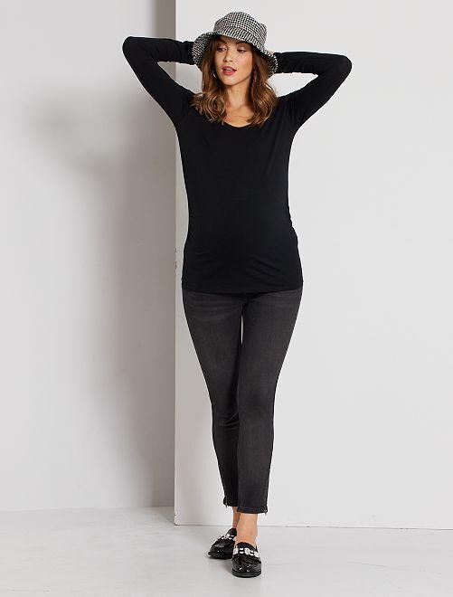 T-shirt de grossesse éco-conçu                                                     noir