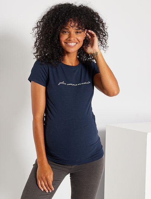 T-shirt de maternité                                                         bleu marine