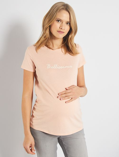 T-shirt de maternité 'éco-conception'                                                                                                                             rose