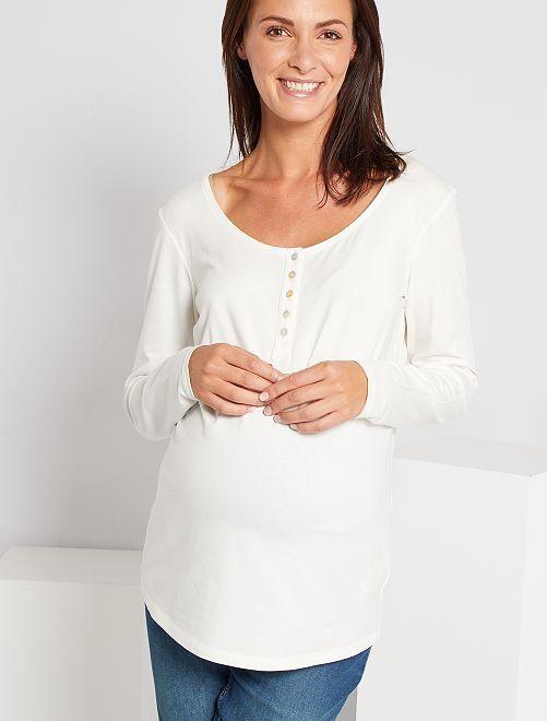 T-shirt de maternité éco-conçu                                                                 blanc