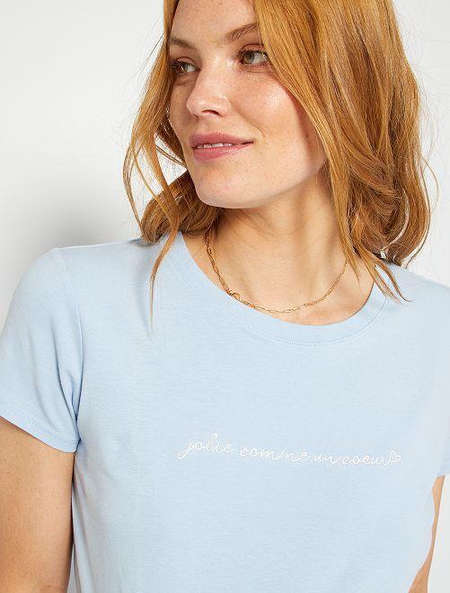 T-shirt de maternité éco-conçu                                                                                                                                                                                 bleu ciel