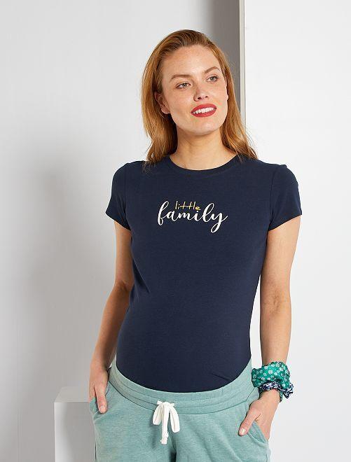 T-shirt de maternité éco-conçu                                                                                                                 bleu marine