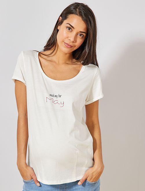 T-shirt de maternité éco-conçu                                                                                                                 mai