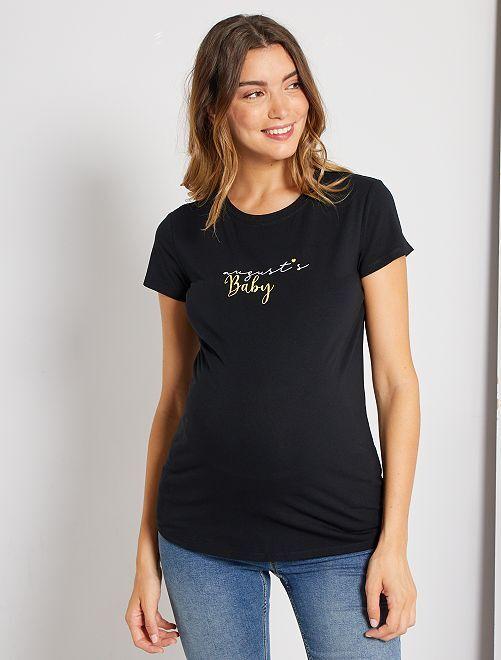 T-shirt de maternité éco-conçu                                                                                                                                                                 noir août