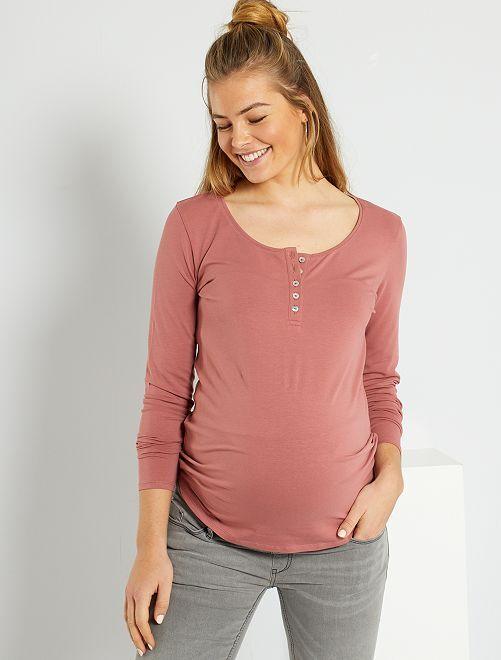 T-shirt de maternité éco-conçu                                                                 rose