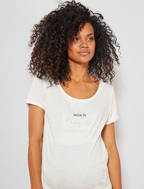 T-shirt de maternité en coton bio                                                                                                                                                                 août Femme