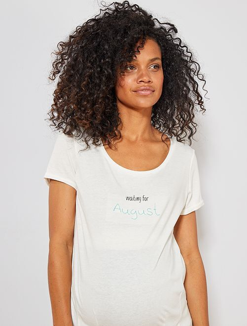 T-shirt de maternité en coton bio                                                                                                                                                                 août Vêtement de grossesse