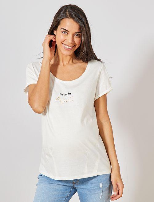 089057c6e1a T-shirt de maternité en coton bio Femme - avril - Kiabi - 8