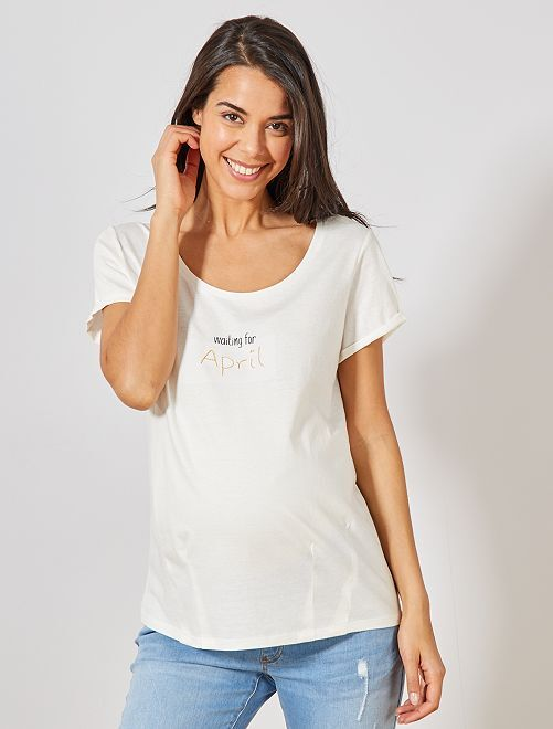 T-shirt de maternité en coton bio                                                                                                                                                                 avril