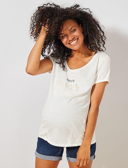 T-shirt de maternité en coton bio                                                                                                                                                                 décembre Femme