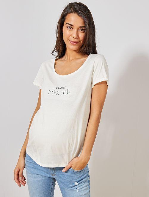 T-shirt de maternité en coton bio                                                                                                                                                                 mars