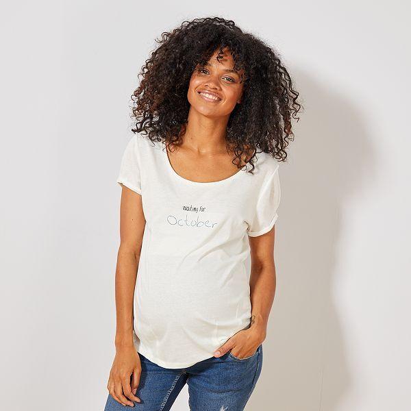classic vast selection release info on T-shirt de maternité en coton bio