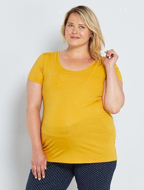 T-shirt de maternité et d'allaitement                                         jaune