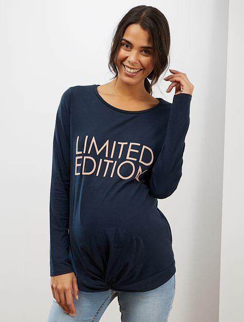 T-shirt de maternité pur coton                                         marine