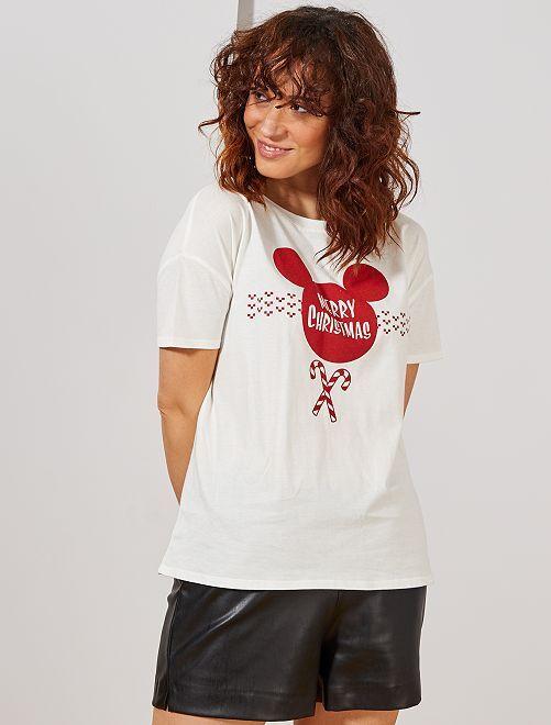 T-shirt de Noël 'Disney'                                                     écru