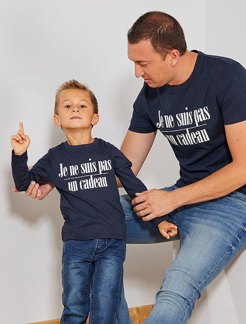 T-shirt de Noël 'éco-conception'                     bleu marine