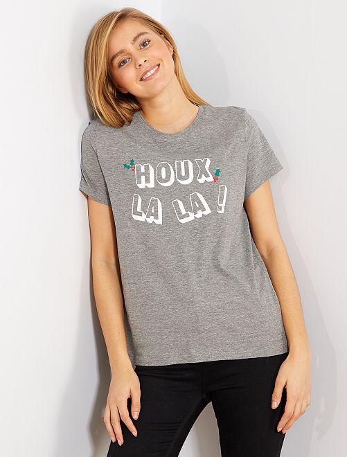 T-shirt de Noël                                                                                                     gris houx
