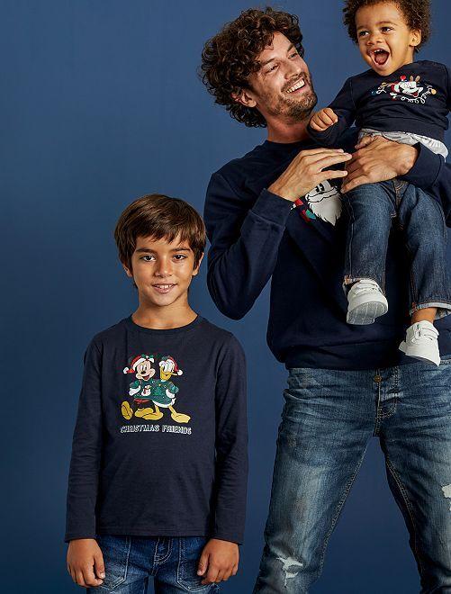 T-shirt de Noël 'Mickey'                                         marine