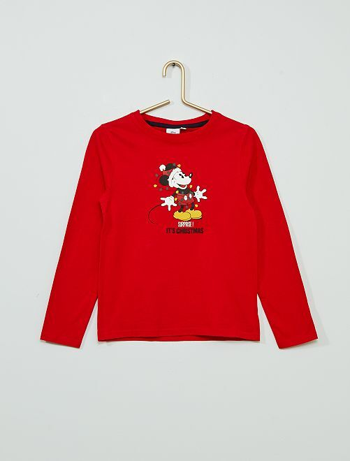 T-shirt de Noël 'Mickey'                                         rouge