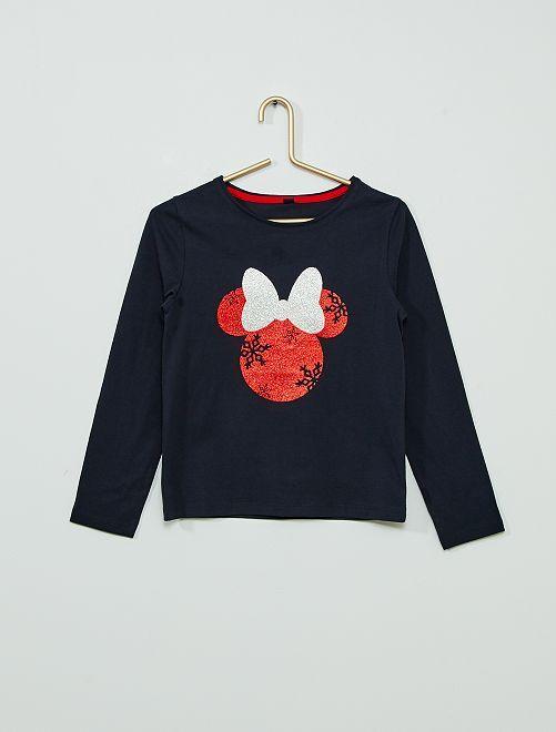 T-shirt de Noël 'Minnie'                                         BLEU