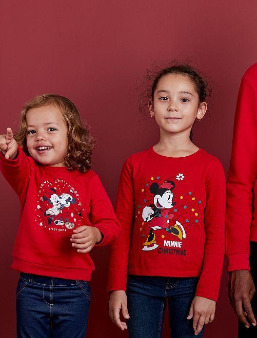 T-shirt de Noël 'Minnie'                                         ROUGE