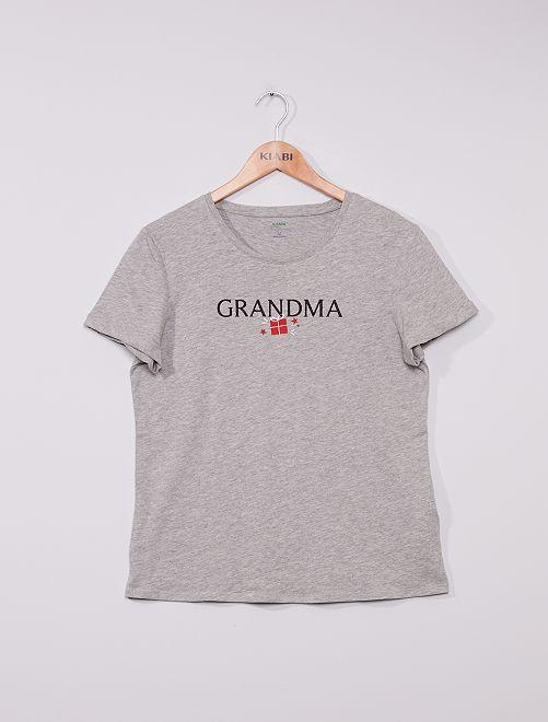 T-shirt de Noël + pochon éco-conçu                                         gris chiné