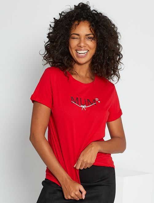 T-shirt de Noël + pochon éco-conçu                                                                 rouge