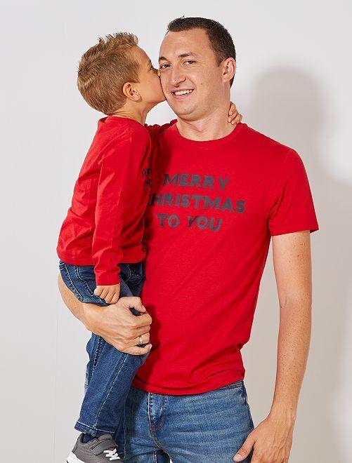 T-shirt de Noël                     rouge