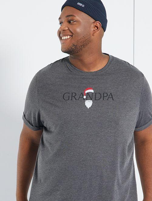 T-shirt de Noël + sac cadeau éco-conçu                                                     gris