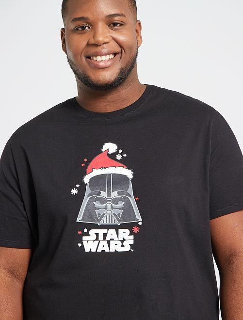 T-shirt de Noël 'Star Wars'                                         noir