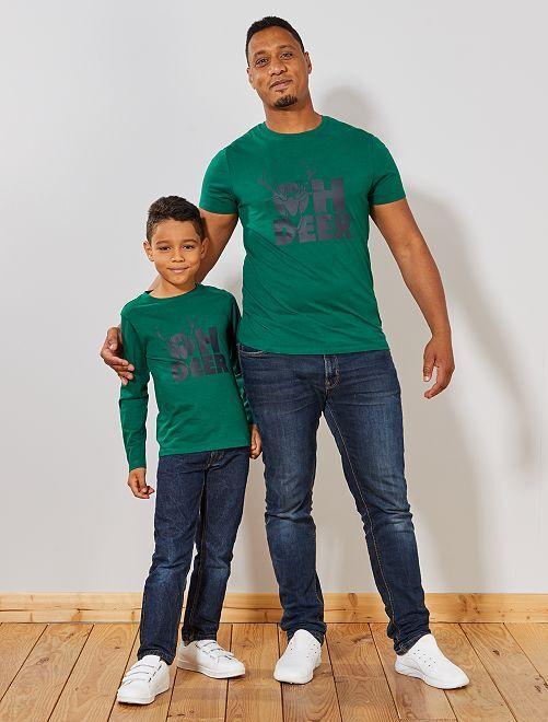 T-shirt de Noël                                                                             vert