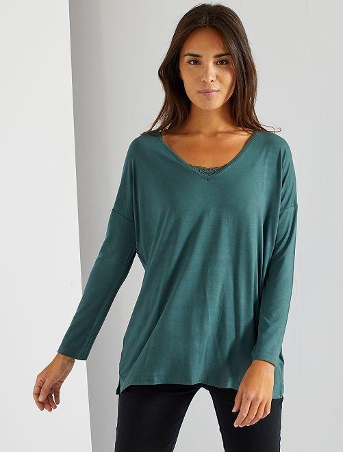 T-shirt de nuit fluide                                                                 vert