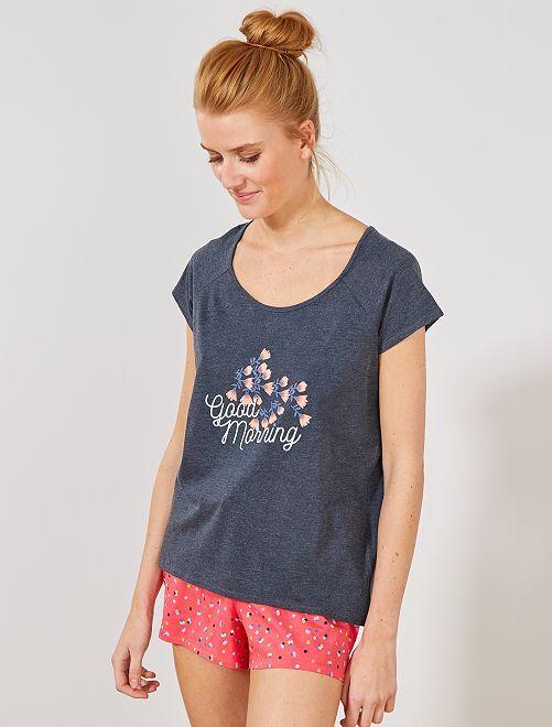 T-shirt de nuit imprimé                     bleu