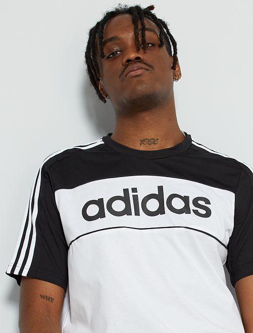 T-shirt de sport 'adidas'                             noir/blanc
