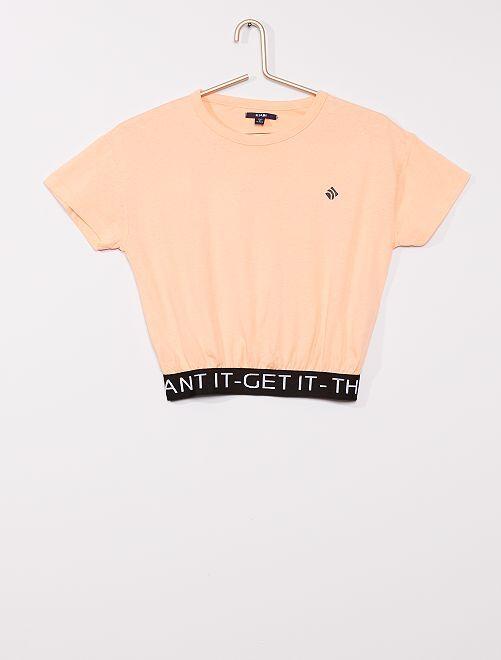 T-shirt de sport court                                                     saumon