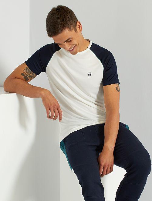 T-shirt de sport en mesh                                         blanc