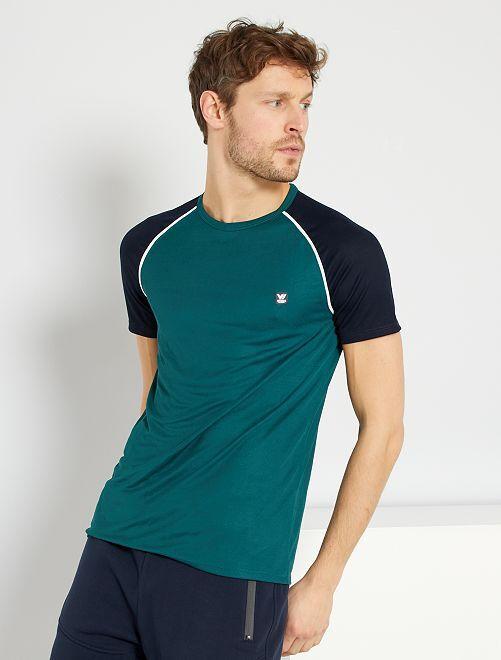 T-shirt de sport en mesh                                         vert profond