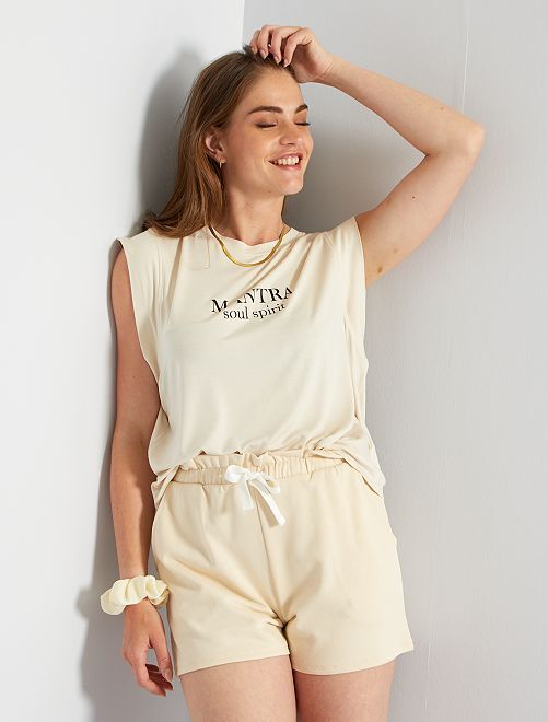 T-shirt de yoga                                         beige