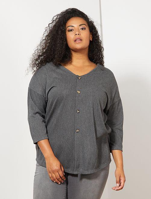 T-shirt décolleté dos                             gris