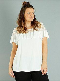T-shirt, débardeur taille 54/56 - T-shirt dentelle et volants - Kiabi