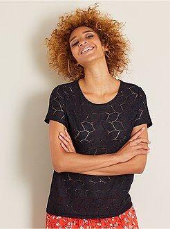Femme du 34 au 48 - T-shirt dentelle 'Jacqueline de Yong' - Kiabi