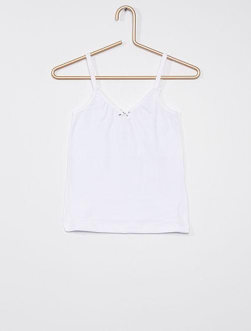 T-shirt 'Dim'                     blanc